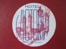 HOTEL MOTEL POSADA HOUSE INN VICTORIA TAXCO MEXICO MEJICO TAG STICKER DECAL LUGGAGE LABEL ETIQUETTE KOFFERAUFKLEBER - Hotel Labels
