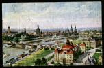 A3405) Dresden Color AK Zeppelin-Ansicht 18. Ord. HV Brauereimeister 1928 - Dresden
