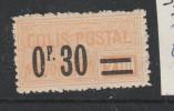FRANCE COLIS POSTAL N° 35 0.30 S 2F  JAUNE TYPE MAJORATION NEUF SANS CHARNIERE - Colis Postaux
