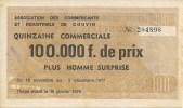 BELGIQUE - COUVIN - LOTERIE QUINZAINE COMMERCIALE 1977 - Billets De Loterie