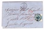 Heimat Tessin Fiskalmarke 50Rp. Grün In Brief Ankunft-St.Locarno 23.11.1860 Aus Australien Kangaroofiat Via London Paris - Lettres & Documents