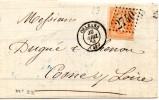 FRANCE - 1864 - Napoléon III - N° 23 - 40 C. Orange Sur Lettre De ORLEANS à COSNE SUR LOIRE - Storia Postale