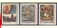 Liechtenstein 1212/14**  Ex-voto Tableaux  MNH