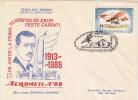 PLANES, AUREL VLAICU-AVIATION PIONEER, FIRST FLIGHT ATEMPT OVER THE CARPATHIANS MOUNTAINS, SPECIAL COVER, 1988, ROMANIA - Aviones