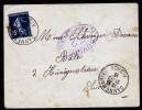 A3412) France Brief Von Dannemarie / Elsass 31.7.16 Mit Zensur - Briefe U. Dokumente