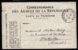 A3413) France Feldpostkarte Vom 5.6.1918 Nach Montpellier Mit Aptiertem Stempel - Briefe U. Dokumente