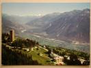 Montana-Vermala-sur-Sierre, La Tour De Supercrans Et Plaine Du Rhône En Direction De Brigue - VS Valais