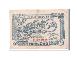 [#45140] Vietnam, Phieu Tiep Te, 5 Cac 1949-1950, Vinh Long, Pick R1 - Vietnam