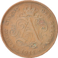 Belgique, Albert I, 2 Centimes 1911, KM 65 - 1909-1934: Albert I