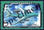 AIRPLANES-NATO BOEING E.W.A.C.S.-MONTSERRAT-1996-SPECIMEN-MNH-B8-93 - Aviones