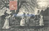 19021 URUGUAY COSTUMES ESCENAS CAMPESTRES GAUCHOS & PEASANT DANCER CIRCULATED TO FRANCE POSTAL POSTCARD - Uruguay