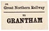 Railway Luggage Label GNR To Grantham Great Northern - Railway