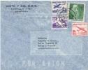 L-DIV 54 - CHILI PA 167-168-170-174 Sur Lettre Par Avion Pour La France - Chili