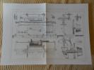 MACHINE RABOTER A PIECE MOBILE, A BIELLE ET A DEUX BURINS OPPOSES PAR MM. DUCOMMUN ET BUBIED Publication Industrielle - Tools