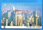 Japan Japon Telefonkarte T�l�carte Phonecard  - Balken front bar 330 - 0684 New York USA  one punch