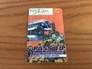 "Ticket de transport (Bus, Tramway) Stan Cgfte ""PASS 10"" Nancy (54) type 1"