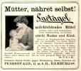 Original-Werbung/ Anzeige 1909 - LACTAGOL - MÜTTER NÄHRET SELBST ! / PEARSON HAMBURG -ca. 90 X 75 Mm - Werbung