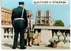 CPSM GENDARME PILICIER PHOTO BUFFIER NOTRE DAME DE PARIS QUASIMODO ET ESMERALDA - Photographie