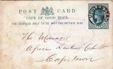 CAPE OF GOOD HOPE 1896? - Half Penny Ganzsache Gelaufen Von Venterstad Nach Cape Town - Südafrika (...-1961)