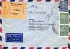 PARAGUAY 1958 - 3 Fach Frankierung Auf LP-R-Brief Gel.v. Paraguay N. Berlin - Paraguay