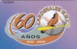 Venezuela, CAN2-0853, Venezuelan Professional Baseball - 2002-2003, Cardenales De Lara Bbc  (4/5),Parrot ?, 2 Scans. - Venezuela