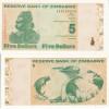 ZIMBABWE 5 DOLLARS 2009 FDS UNC - Zimbabwe