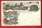 HAE-19  Souvenir De Lausanne Litho, Multivues. Cachets 1901 - VD Vaud