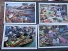 Thailande Marché Flottant ( The Floating Market )lot De 10 Cartes Toutes Scanner - Thailand