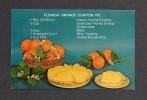 RECETTES CUISINE - COOKING RECIPES - FLORIDA ORANGE CHIFFON PIE - BY NATIONAL POST CARD - Recettes (cuisine)