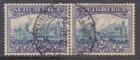 South Africa, 1939, 2d Blue & Violet, Pair, C.d.s. Used - Used Stamps