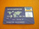 Greece Eurobank Bank Interamerican Insurance Mastercard VISA Old Credit Card - Cartes De Crédit (expiration Min. 10 Ans)