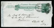A3421) US Kartenbrief Von Philadelphia 12/07/1895 To Malvern - Ganzsachen