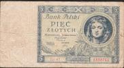 POLAND POLOGNE  P72  5  ZLOTYCH  1930  FINE - Polen