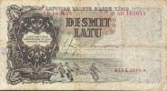 LATVIA LETTONIE  P29b  10  LATU   1938   FINE - Lettonie