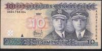 LITUANIA LITUANIE  P59  10  LITU   1997 Serie AAD   AVF NO P.h. ! ! - Lituanie
