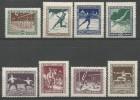TP DE HONGRIE N° 371 à 378  NEUFS SANS CHARNIERE  (SCAN VERSO DES TP !) - Unused Stamps