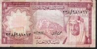 SAUDI ARABIA  P16  1  RIYAL   1977    FINE - Arabie Saoudite