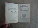 Cours D´histoire Ancienne  1832 Tome IV égyptiens Assyriens Mèdes Perses Grecs Carthaginois. 2 Cartes. Voir Photos. - Books, Magazines, Comics