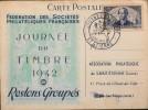 FR - 1942 - Carte Postale Journ�e du Timbre - St-Etienne le 19.04.1942 - En Etat d'Usage -