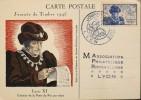 FR - 1945 - Carte Postale - Journ�e du Timbre Affr. n� 743 Y & T  - Lyon le 19.04.1942 - En TBE -