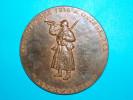 Gros Médaille 69mm - 170gr Environs - Bronze - Commémorative - 1918/1968 - Cessez Le Feu - 11 Novembre 1918 à 11heurs - France