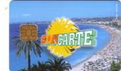 FRANCE CARTE A PUCE CHIP CARD FOR BUS SUNCARTE NICE UT RARE - Beurskaarten