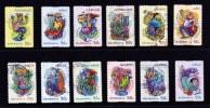 Australia 2007 Signs Of The Zodiac Set Of 12 Self-adhesives Used - Usati
