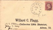 USA Lettre Belleville Illinois 1864 Alton - 1847-99 Emissions Générales