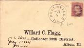 USA Lettre Belleville Illinois 1864 Alton - 1847-99 General Issues