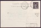"GIRONDE - CP- Tàd T84 Sauveterre De Guyenne Sur N° 83+ Griffe ""affranchissement Insuffisant"" + ""T"" Taxe Triangulaire - Postmark Collection (Covers)"