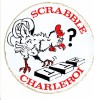 Scrabble Ancien Autocollant Du Club ATT Charleroi, Ancêtre Du Scrabbleroy (vers 1975/80) - Non Classés