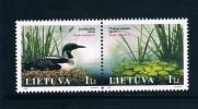 Lithuania 2005 2 New Wetland Bird Stamps 0209 - Lituania