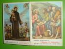 """Anno1962 Calendarietto """"Mensa S.ANTONIO Da Padova"""" Via Merulana ROMA Opera Nazionale / Santino - Calendari"""