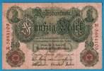 DEUTSCHES REICH 50 MARK 21.4.1910  ALPHA A.5684109   SERIAL # 7 DIGITS - [ 2] 1871-1918 : German Empire
